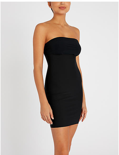 COMMANDO Two-Faced Tech strapless microfibre slip dress
