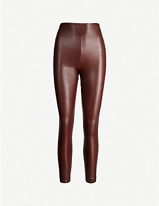 COMMANDO: Faux-leather leggings
