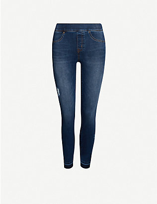 SPANX: Jean-ish cotton-blend leggings