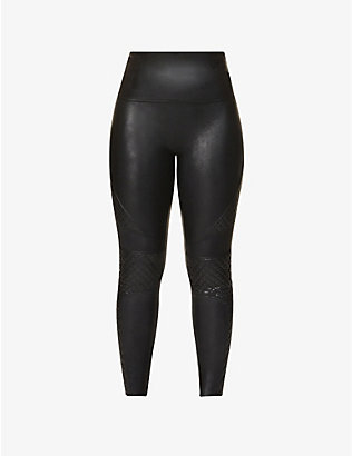 SPANX: Quilted faux-leather leggings