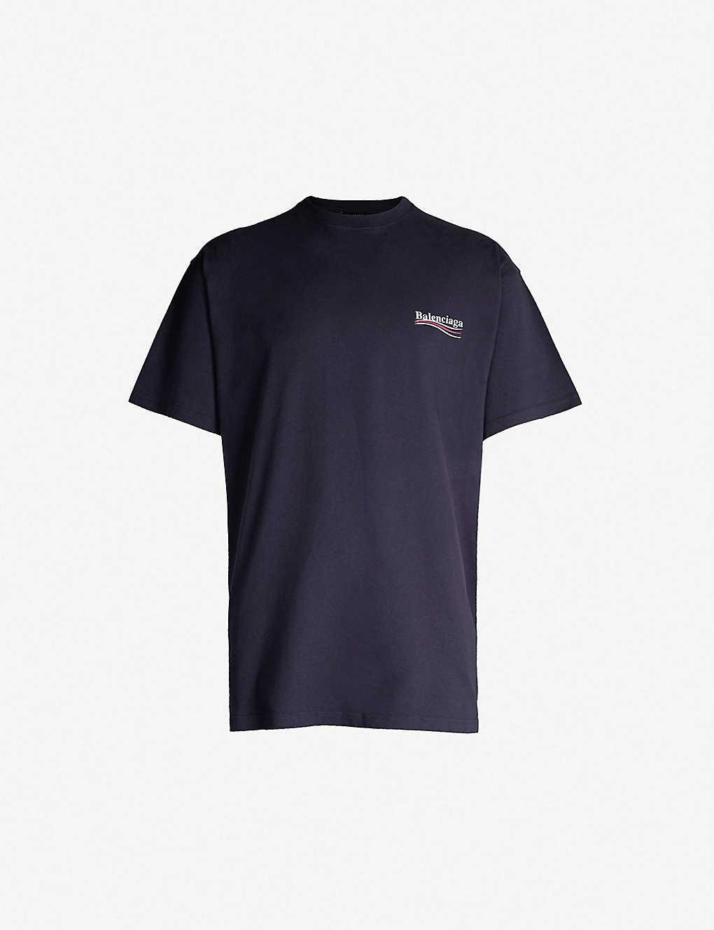 6013e77d1448 BALENCIAGA - Campaign logo-print cotton-jersey T-shirt | Selfridges.com