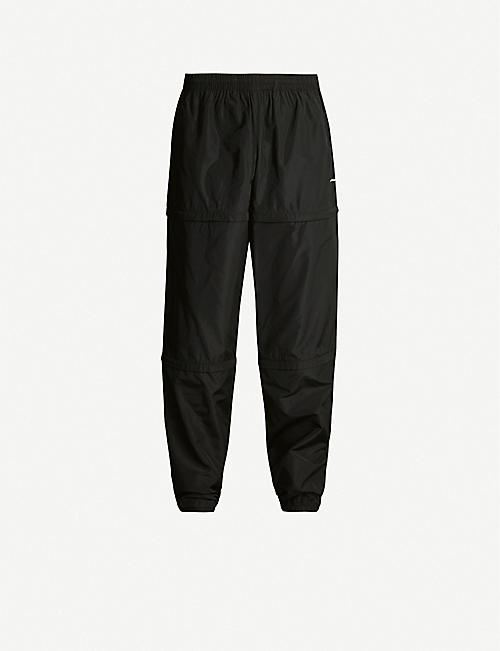 BALENCIAGA Logo-print convertible shell jogging bottoms