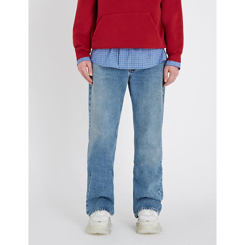BALENCIAGA | Regular-Fit Straight Jeans | Goxip
