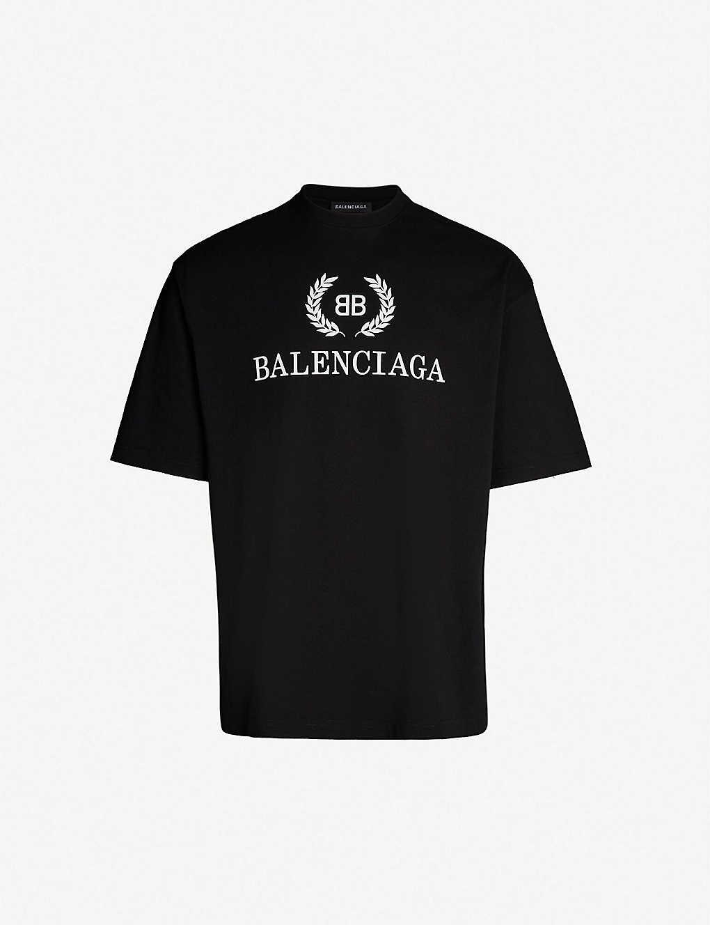da1ee141e BALENCIAGA - Logo-print cotton-jersey T-shirt | Selfridges.com