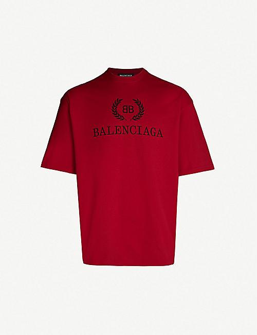 facdb1777b4 BALENCIAGA Logo-print cotton-jersey T-shirt