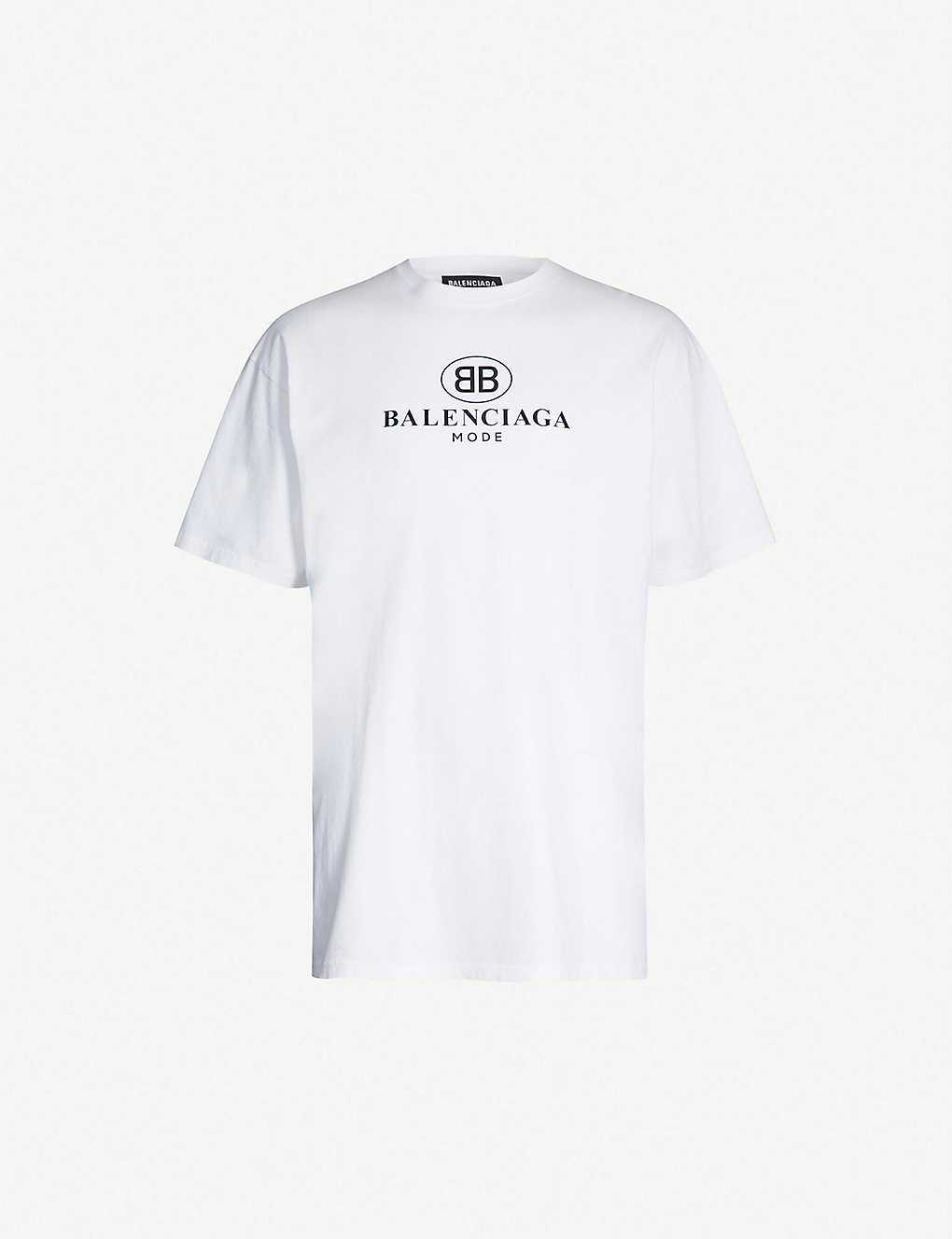 8db36245a BALENCIAGA - Logo-print cotton-jersey T-shirt | Selfridges.comm
