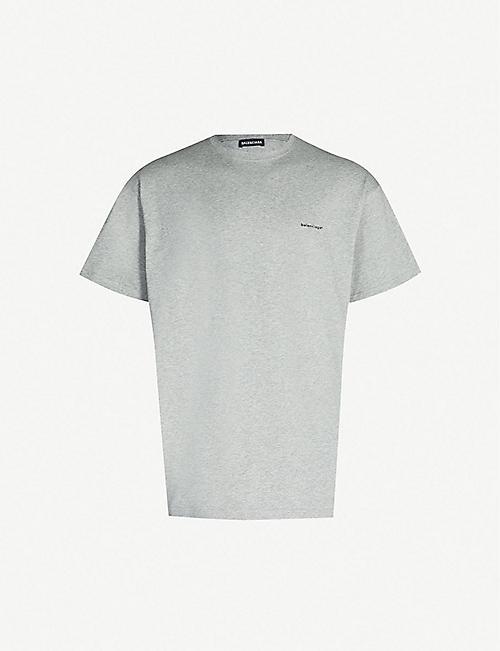f60e25ba59 BALENCIAGA Logo-print cotton-jersey T-shirt