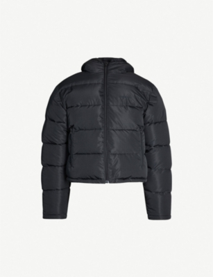 BALENCIAGA Cropped shell hooded puffer jacket
