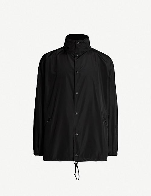96d5aa64cef8 BALENCIAGA Logo-print oversized shell hooded jacket