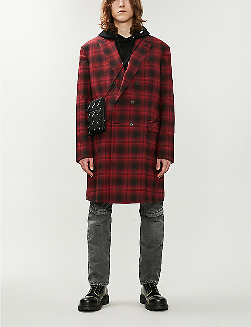BALENCIAGA Checked double-breasted woven jacket