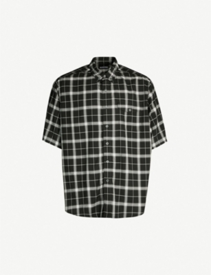 BALENCIAGA Checked oversized cotton shirt