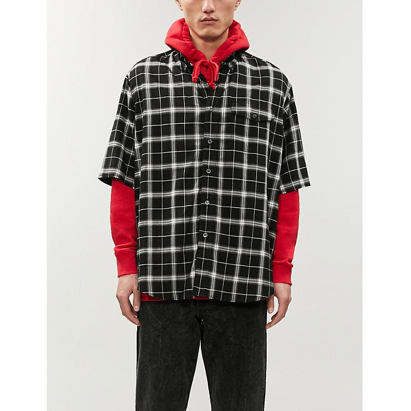 BALENCIAGA | Checked Oversized Cotton Shirt | Goxip