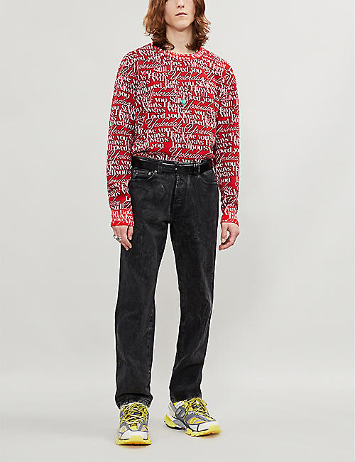 BALENCIAGA Love Poem stretch-virgin wool jumper