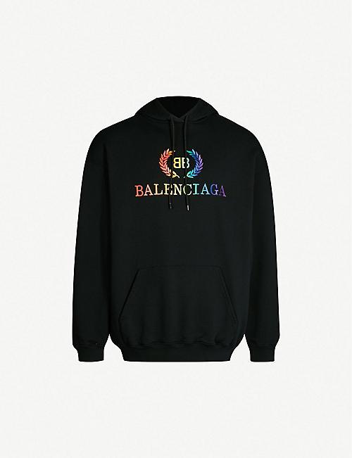 BALENCIAGA Laurier logo-print cotton-jersey hoody a869aabab946
