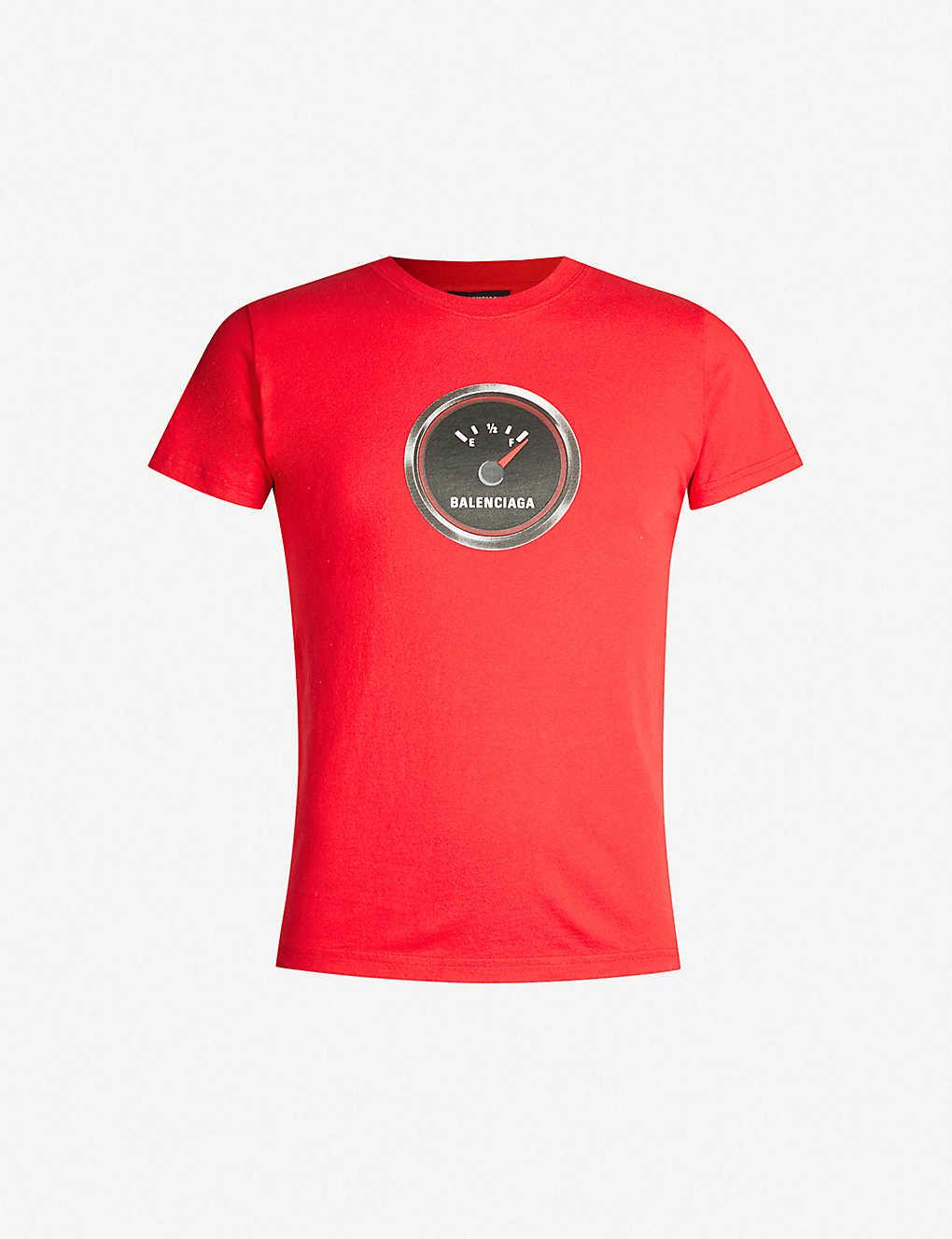 2e43f86c BALENCIAGA - Logo-print cotton-jersey T-shirt   Selfridges.com