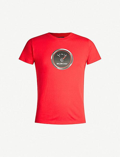 b81ea762345 BALENCIAGA Logo-print cotton-jersey T-shirt
