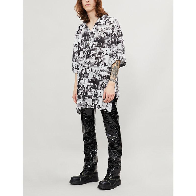 BALENCIAGA | Oversized Photo-Print Woven Shirt | Goxip