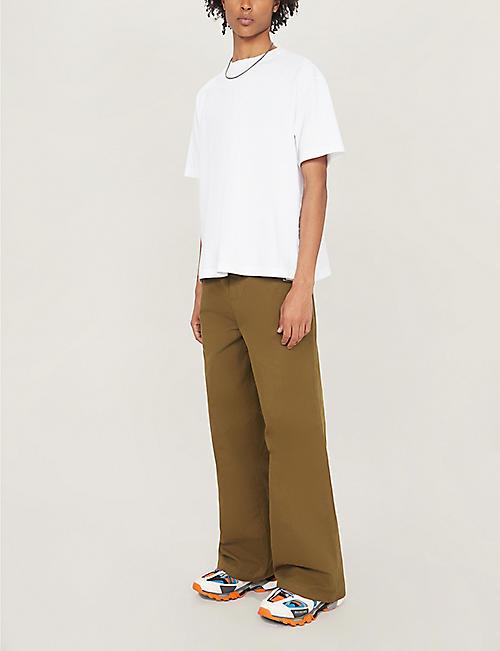 31ac126a1420 BALENCIAGA Droopy logo-print cotton T-shirt. Quick Shop
