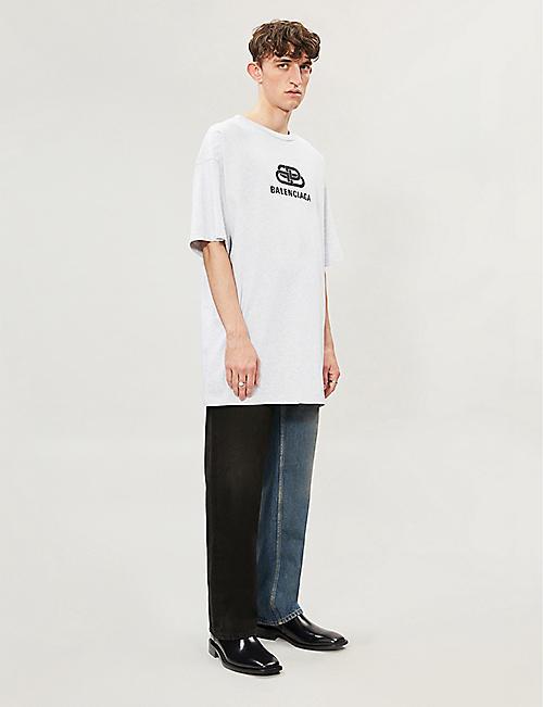 ad4eb30018ee BALENCIAGA Logo-print cotton-jersey T-shirt. Quick Shop