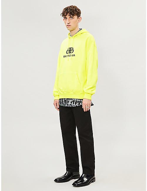 439136242279 BALENCIAGA Logo-print cotton-jersey hoody · Quick Shop