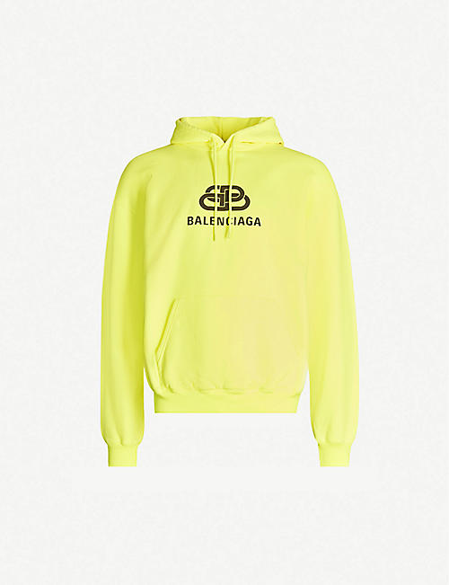 5b7b828f3921 BALENCIAGA Logo-print cotton-jersey hoody