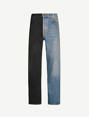 BALENCIAGA Two-tone wide jeans