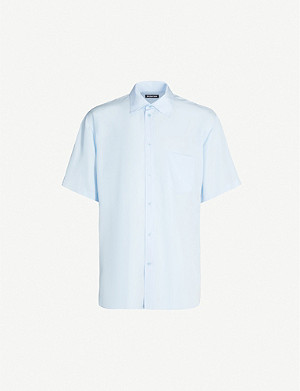 BALENCIAGA Short-sleeved oversized lyocell shirt