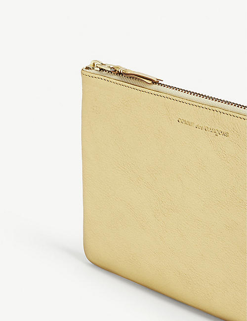 COMME DES GARCONS PLAY Metallic leather pouch