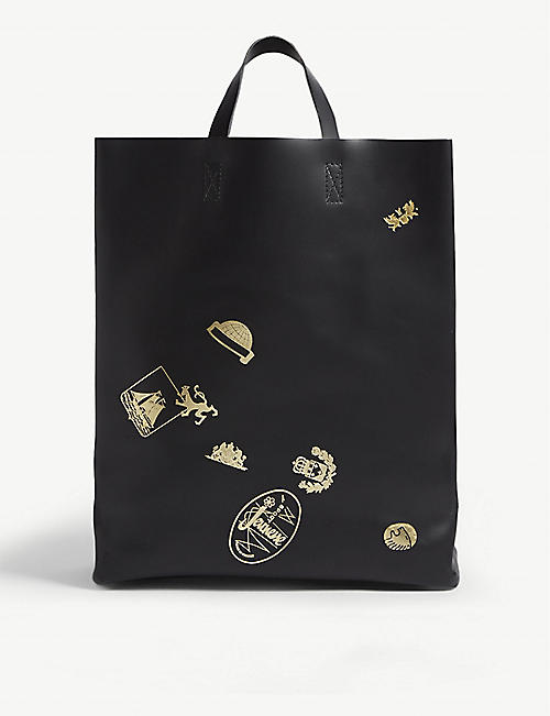 COMME DES GARCONS PLAY Crest print leather tote