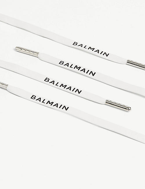 BALMAIN Logo-printed leather laces