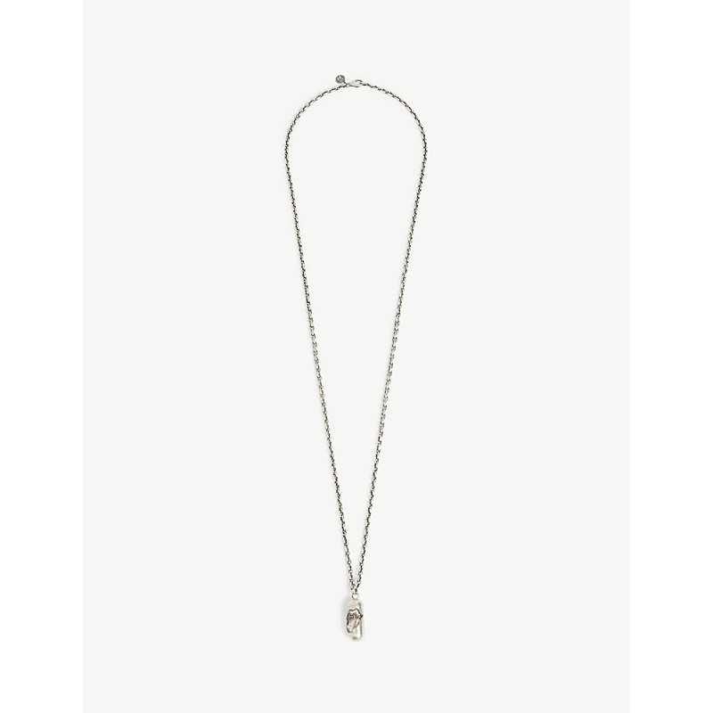 JADE JAGGER Silver Rolling Stone Necklace