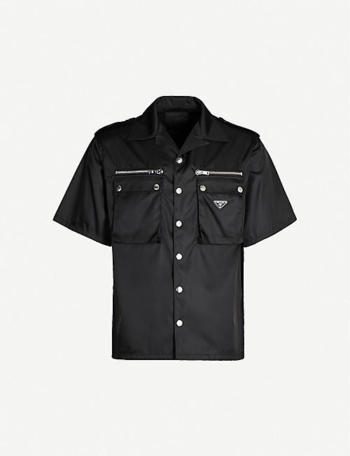 PRADA Camp-collar gabardine-nylon shirt