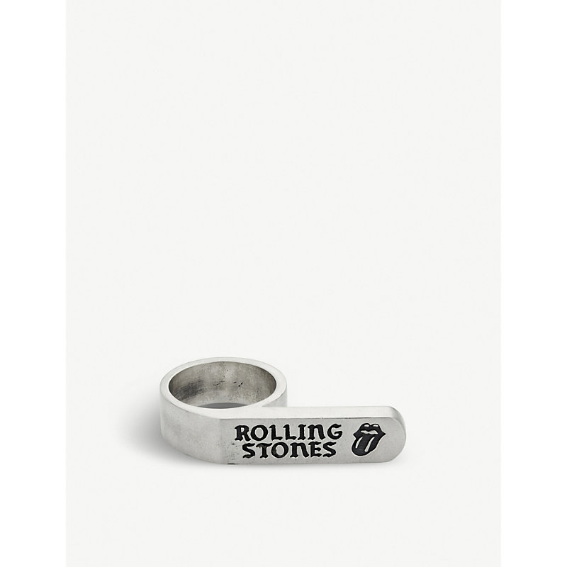 JADE JAGGER The Rolling Stones X  Banner Ring in Silver