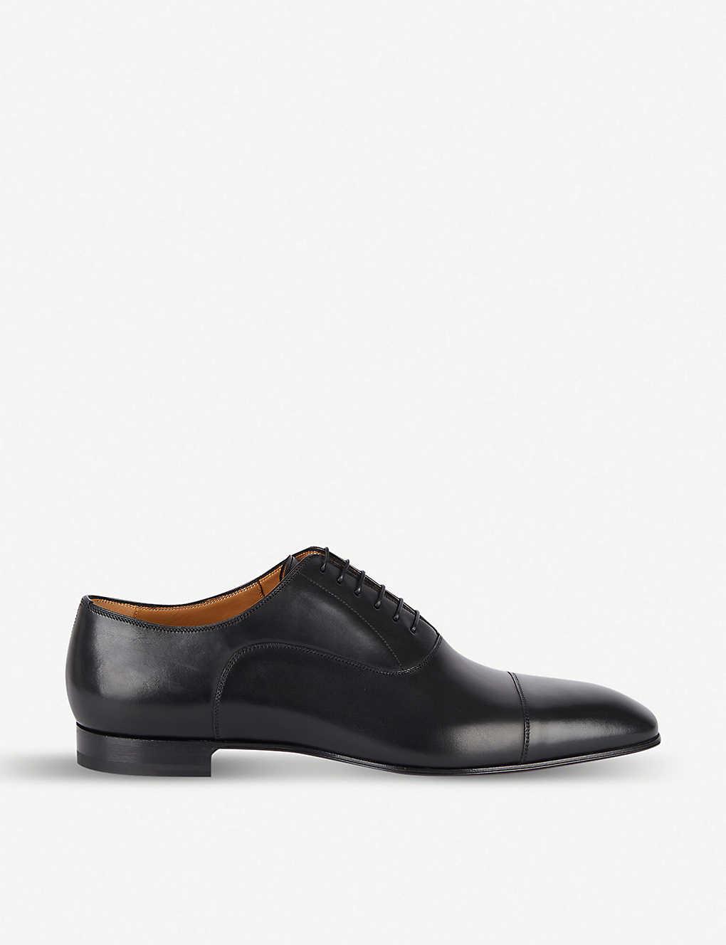 outlet store db8d9 6f932 CHRISTIAN LOUBOUTIN - Greggo flat calf p black | Selfridges.com