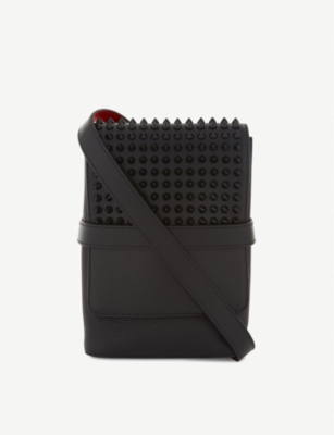 CHRISTIAN LOUBOUTIN Benech Reporter calf leather messenger