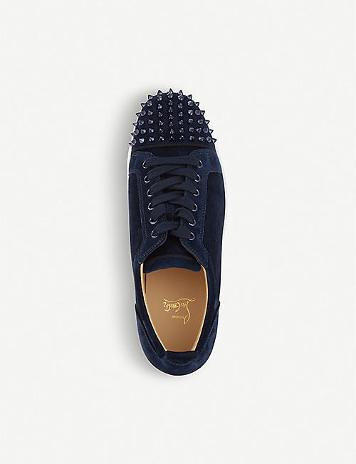 CHRISTIAN LOUBOUTIN Louis Junior spikes flat veau