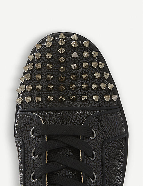 0b011af3f7c2 CHRISTIAN LOUBOUTIN Lou spikes orlato flat crosta wet clf gg