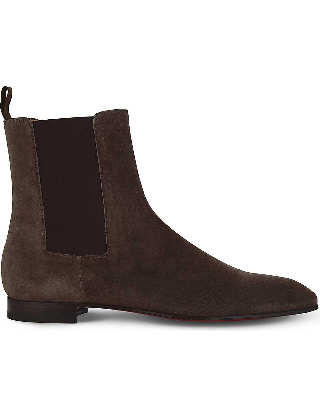 new styles e201c f7010 CHRISTIAN LOUBOUTIN - Roadie flat veau velours | Selfridges.com