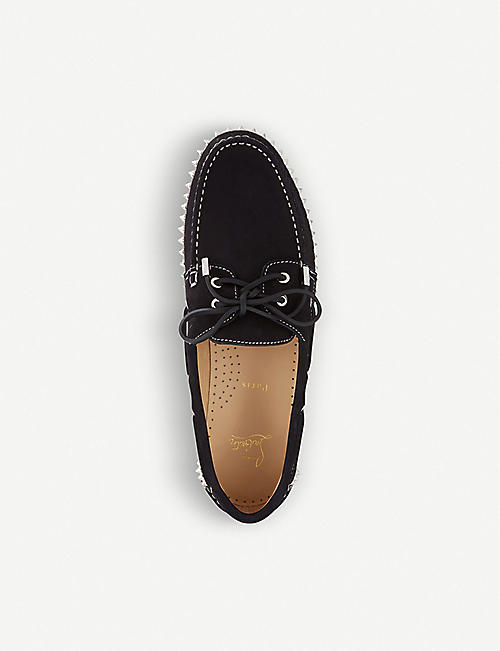 8b74043fd8bd CHRISTIAN LOUBOUTIN Steckel flat calf nabuck black