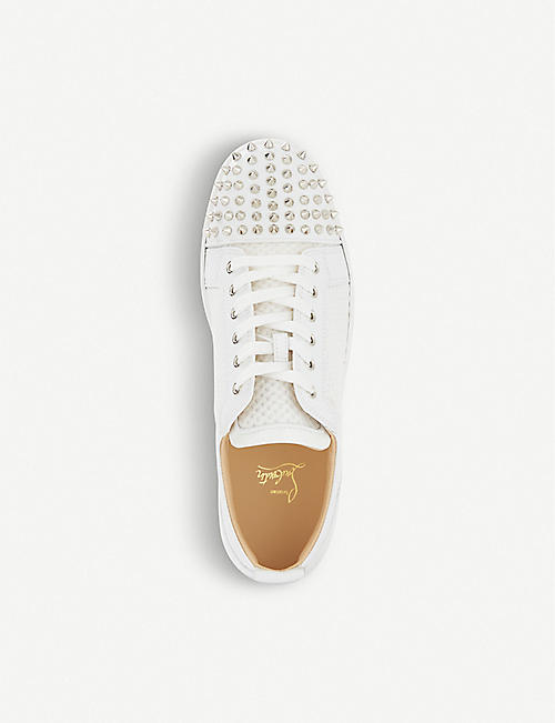 CHRISTIAN LOUBOUTIN Ac louis junior spikes flat calf/mesh/pa