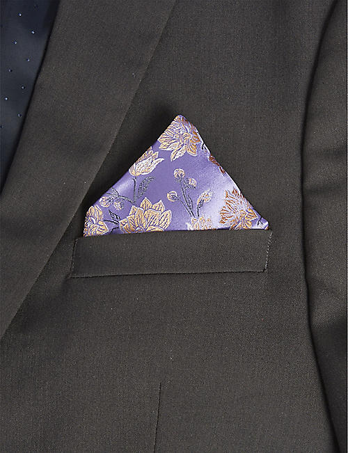 DUCHAMP LONDON Floral print pocket square