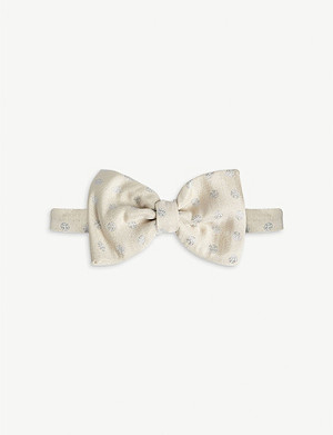 DRIES VAN NOTEN Silk-blend patterned bowtie
