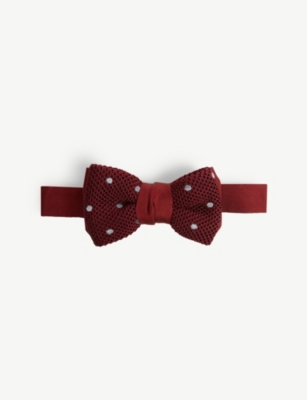 LANVIN Polka dot knitted silk bow tie