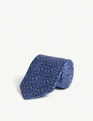 LANVIN Four-square polka-dot silk pocket square
