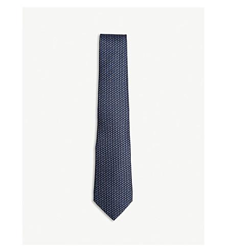Lanvin Chevron silk tie