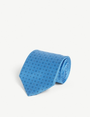 ZILLI Geometric circle silk tie