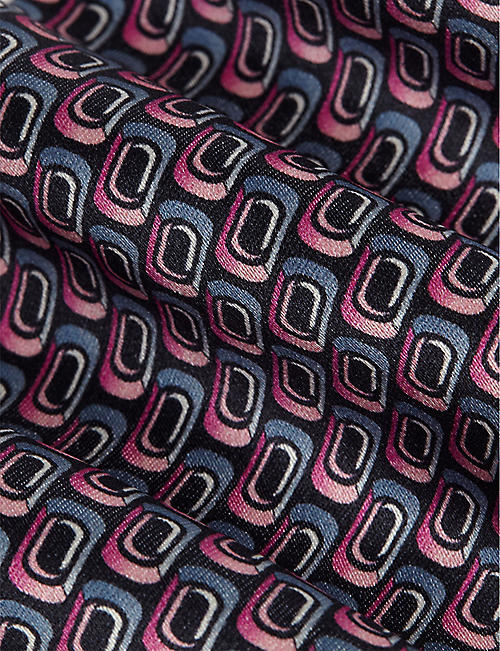 ZILLI Patterned silk tie