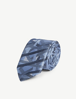 FENDI Abstract-print silk tie