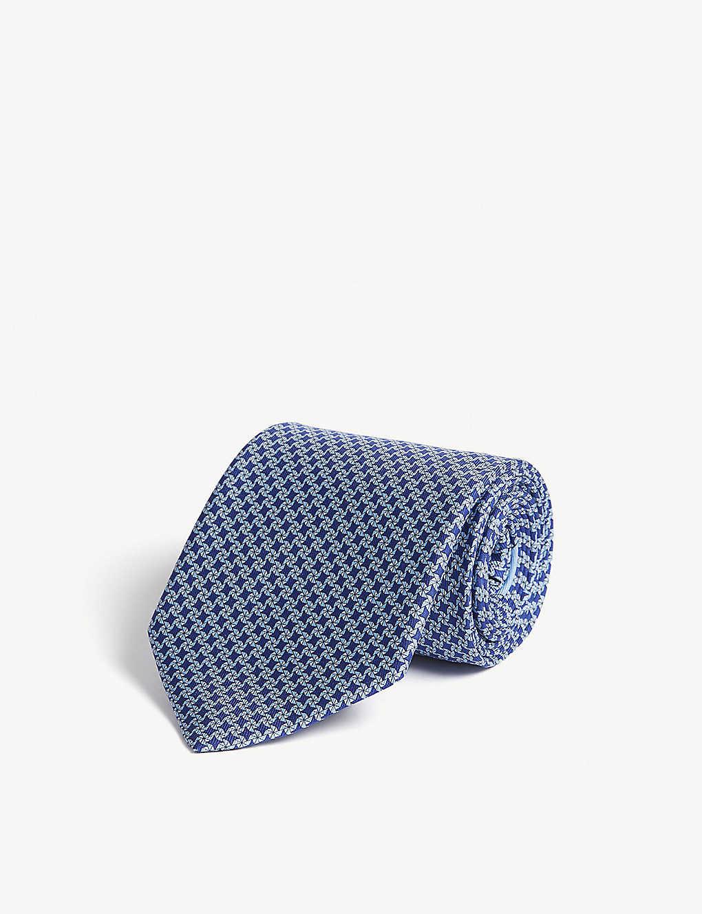 93e3d6298b72 SALVATORE FERRAGAMO - Star print silk tie | Selfridges.com
