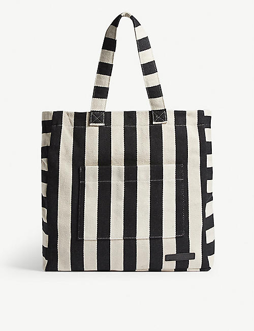 ZIMMERMANN Striped cotton canvas tote